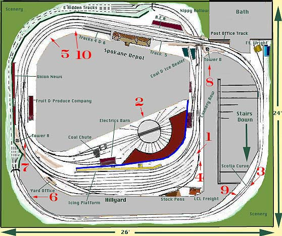 Image Map of the Layout